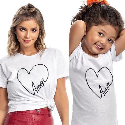 Blusa infantil amor - TAL FILHA