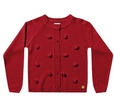 Cardigã infantil tricô menina