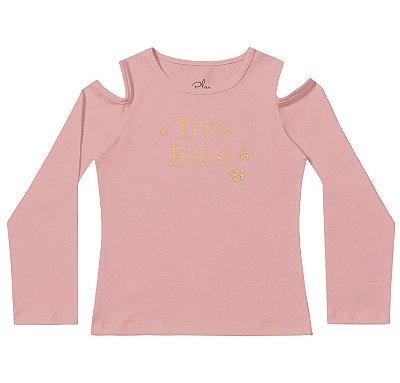 Blusa infantil feminina rosé