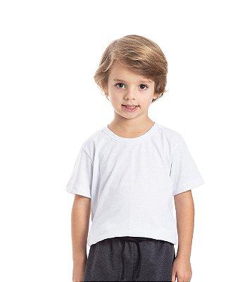 Camiseta básica infantil masculina branca