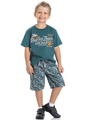 Conjunto infantil masculino camuflado