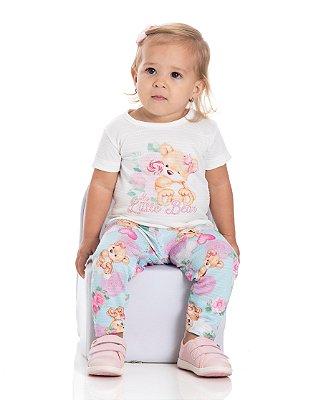 Conjunto bebê menina blusa e legging bear