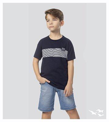 Camiseta infantil masculina azul marinho