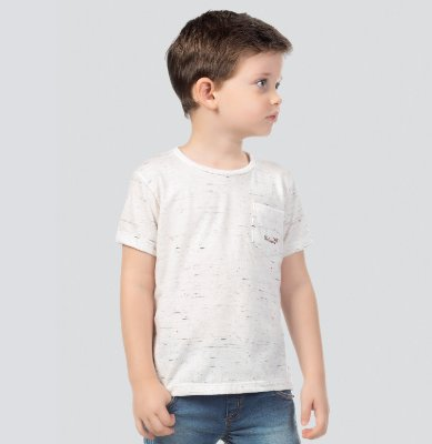 Camiseta infantil masculina mescla