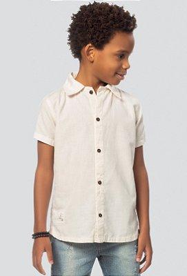 Camisa infantil masculina linho