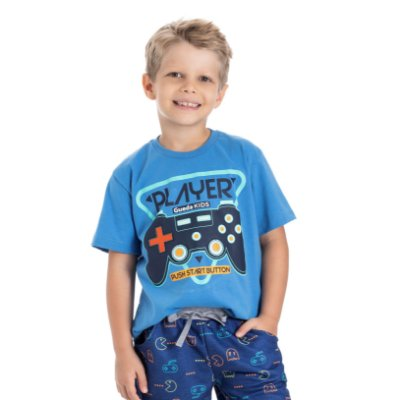 Camiseta infantil masculina player