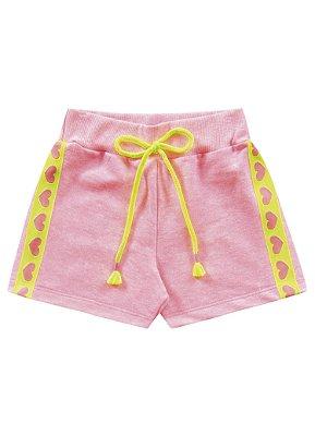 Short infantil neon rosa