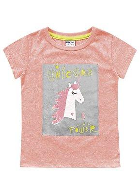 Blusa infantil feminina laranja flúor