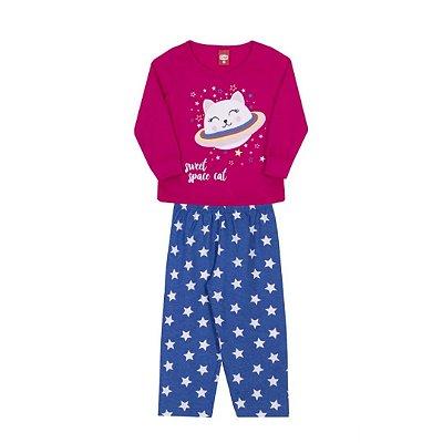 Pijama infantil feminino estrela pink e azul