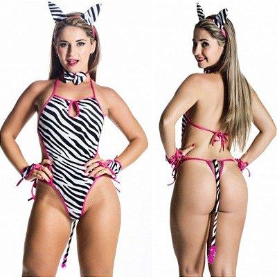 Fantasia sensual zebrinha