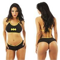 Mini fantasia sensual personagens batgirl