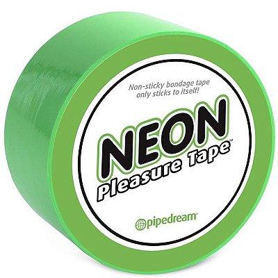 Fita para amarrar - neon bondage tape green