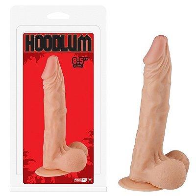 Pênis realístico 22cm com escroto e ventosa - hoodlum