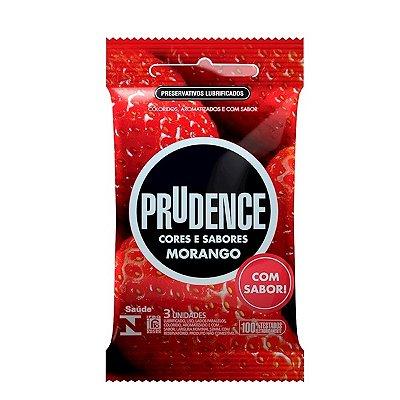 Preservativo camisinha prudence sabor morango - 3uni
