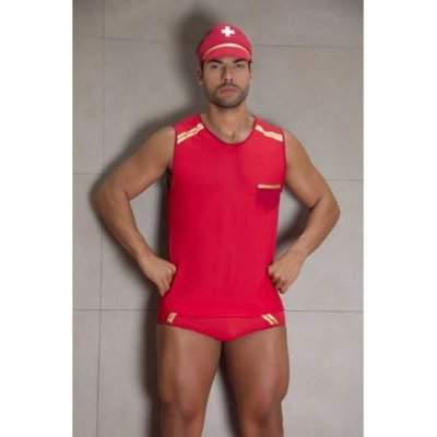 Fantasia erótica sensual masculina bombeiro
