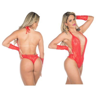 Body fashion vermelha