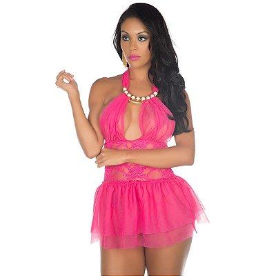 Camisola lingerie sensual sexy afrodite ROSA