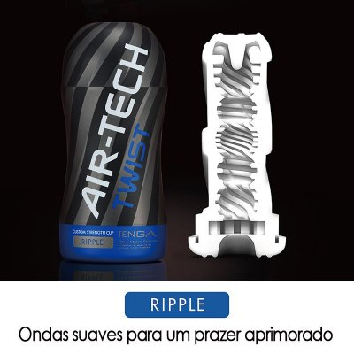 TENGA AIR TECH TWIST RIPPLE - COPO MASTURBADOR COM TEXTURA INTERNA ONDULAR