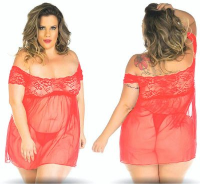 Camisola Gabriela plus size - Vermelha