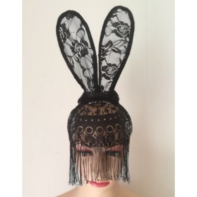 Bunny Sexy - Tiara de coelho em renda floral
