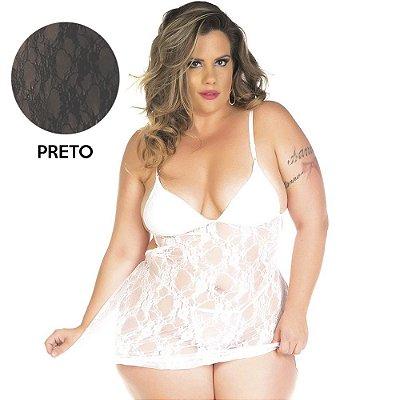 Camisola Sensual Jéssica plus size - Preta