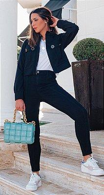 Calça Skinny Black Sarja Laura | DNA BLESSED