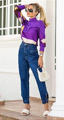 Calça Jeans c/ Detalhe Barra Jéssica | DNA BLESSED