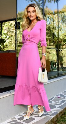 Vestido c/ Nó Basic Franzido Tulum | NEXT STOP BLESSED