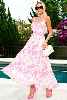 VESTIDO FLORAL BABADO GIVERNY   NEXT STOP BLESSED