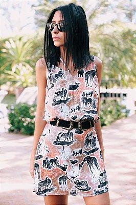 Vestido Safari Trançado Costas