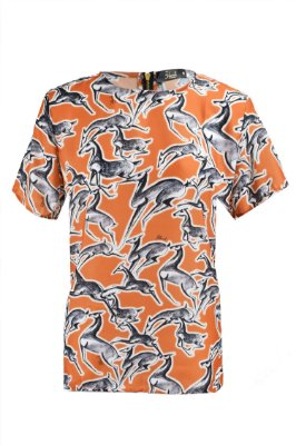 OUTLET | Blusa Estampa Animal Laranja