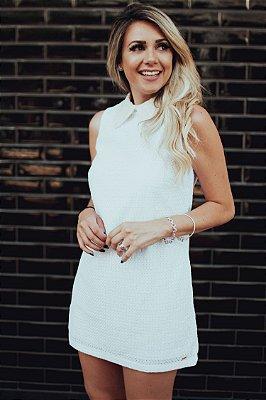 BLACK FRIDAY | Vestido Lese Gola Branco