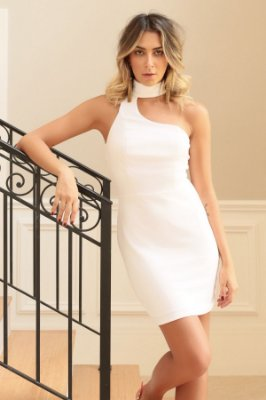 SALE | Vestido Choker Rosê/White