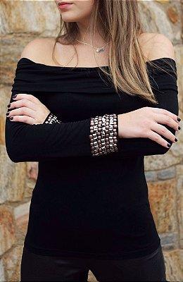 Lançamento | Blusa Ombro a Ombro  Bordado
