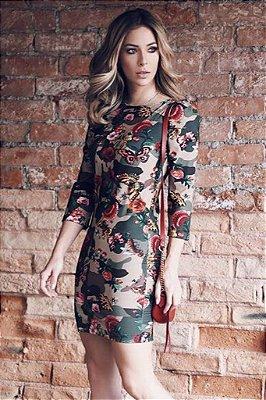 LANÇAMENTO | Vestido Camuflado Flores Borboletas