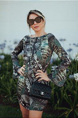 OUTLET | Vestido Cetim Perola Colar