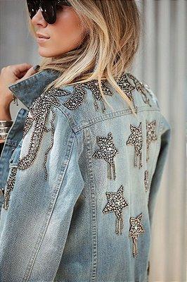 LANÇAMENTO | Jaqueta Jeans Estrelas Bordadas
