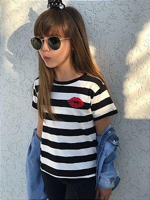 Blusa Listrada  Beijo Blessinha