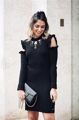 SALE | Vestido Gola Bordada Ombro