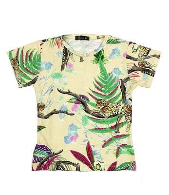 T-Shirt Onça Folhagem Blessinha
