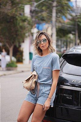 LANÇAMENTO | Conjunto Chamois Bolso Laço Azul