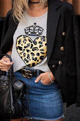 LANÇAMENTO | Blusa Coração c/ Coroa Bordada