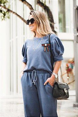 LANÇAMENTO | Blusa Moleton Azul Laço
