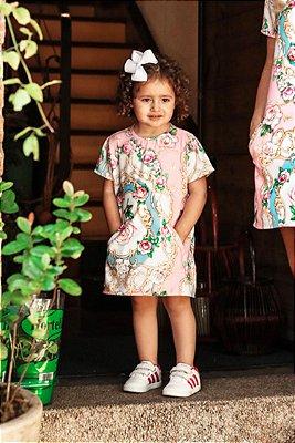 SALE | Vestido Estampa Flores Rosa Blessinha