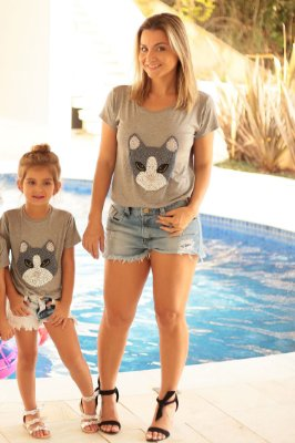 SALE | T-shirt Gato Bordado