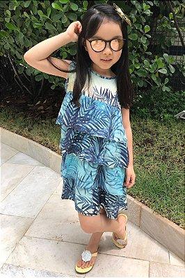 SALE | Vestido Blessinha Estampa Folhagem