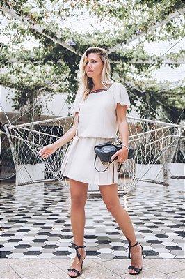 LANÇAMENTO | Vestido Linho Detalhe Fita Abelha