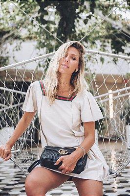 SALE | Vestido Linho Detalhe Fita Abelha