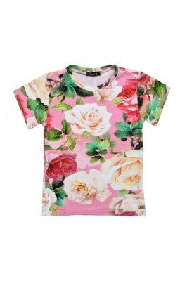 LONDON COLLECTION | Blusa Blessinha Estampa Flores Rose