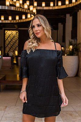 SALE | Vestido Sandía Preto